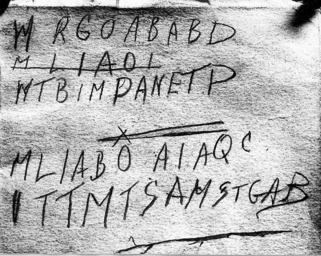 The strange code found inside the book titled Rubáiyát of Omar Khayyám.
