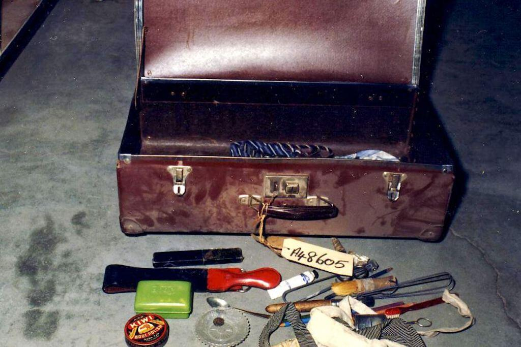 The contents of the suitcase.