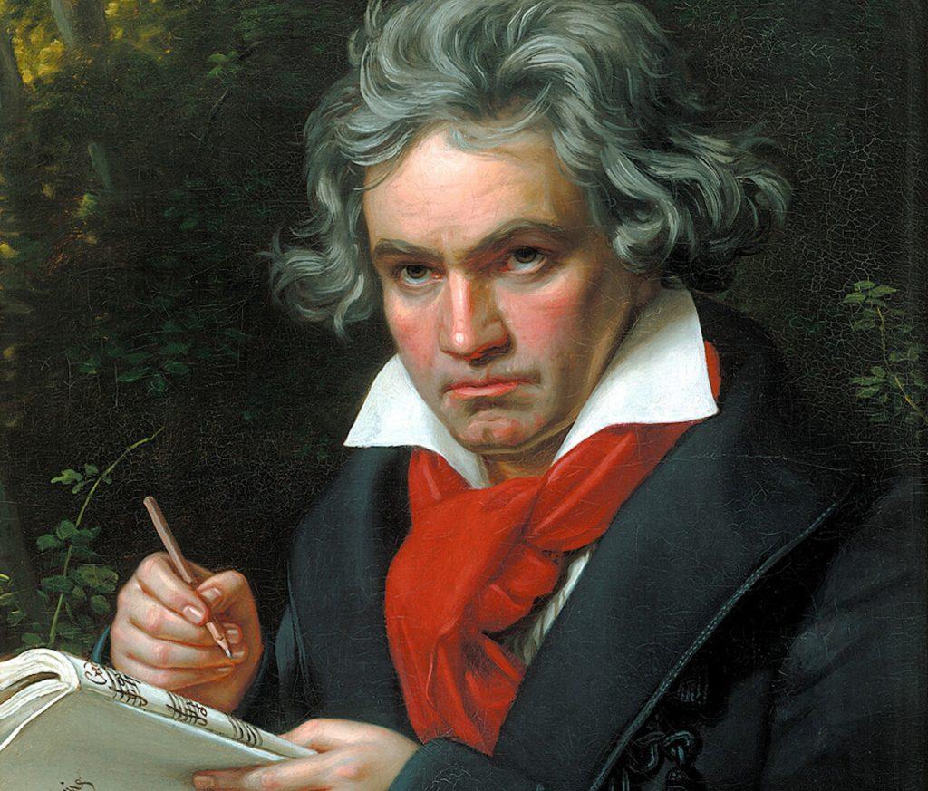 1820 portrait of Beethoven by Karl Joseph Stieler.