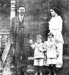 Percy and Lessie Dunbar with their two children.