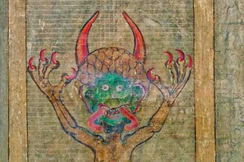 devil's face in the Devil's Bible