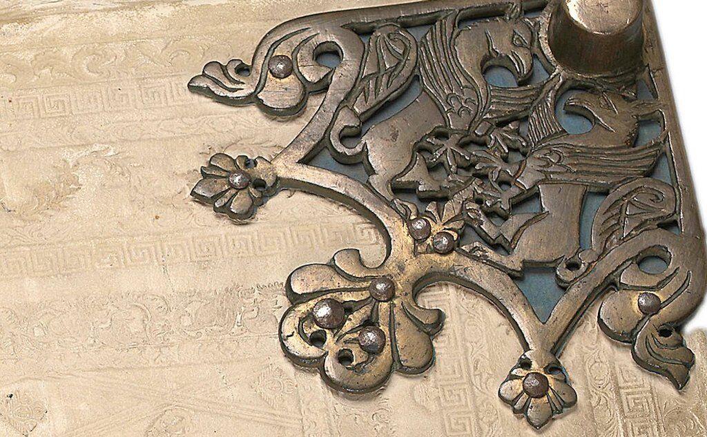 Corner metal fitting on Codex Gigas