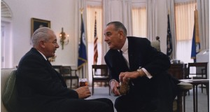 Harold Holt with LBJ 1967