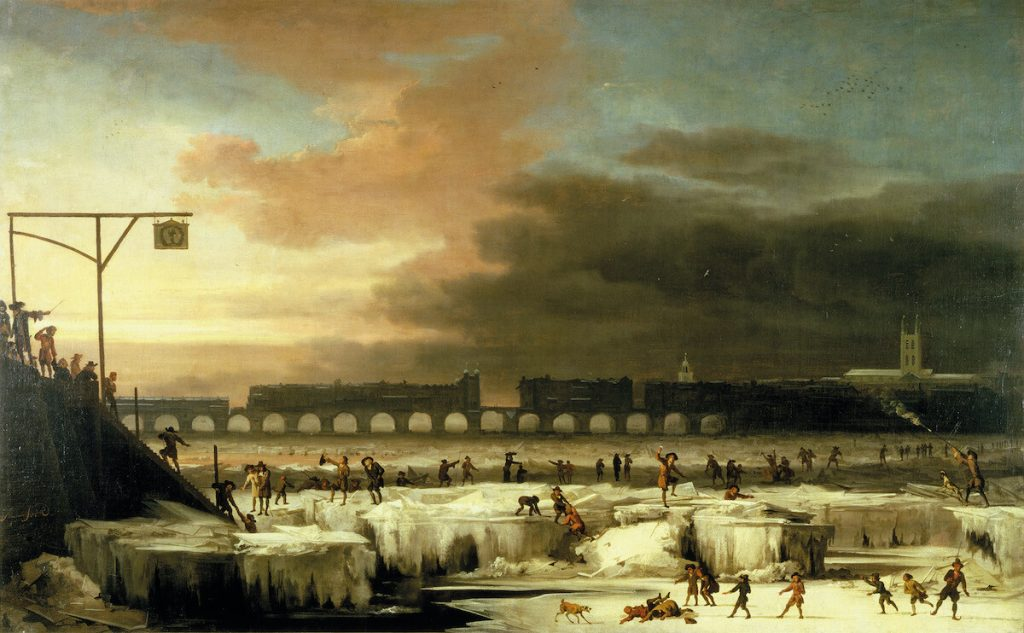 The Thames River frozen over, painted by Abraham Hondius in 1677. What caused the Little Ice Age?