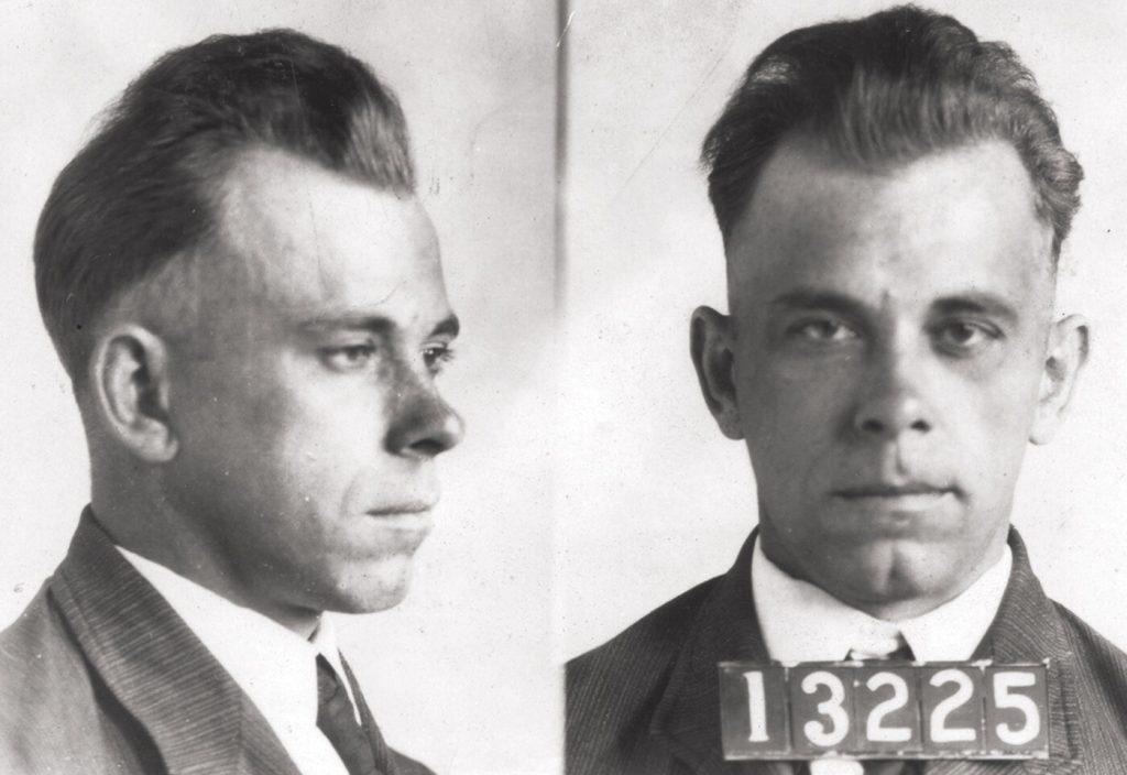 John Dillinger mugshot taken in December 1933.