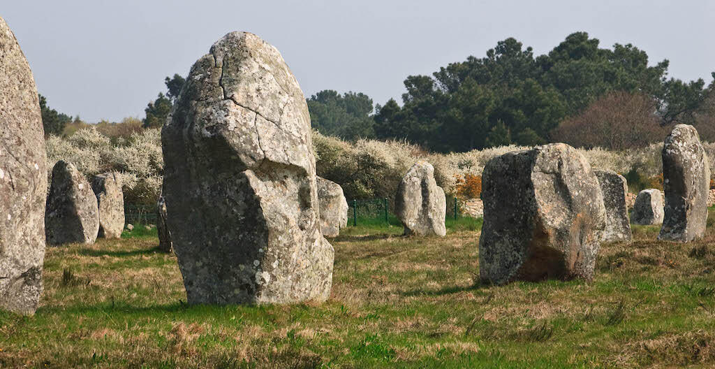 Carnac stones in the Menac Alignment