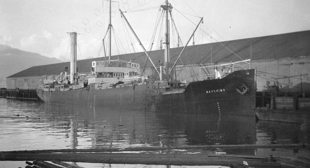 The S.S. Baychimo in dock (1920).