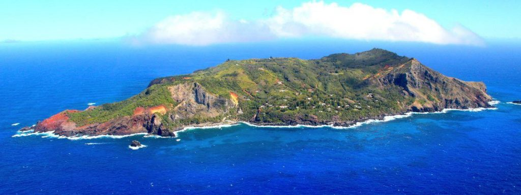 Pitcairn Island lies in the South Pacific Ocean and has a population of 50.