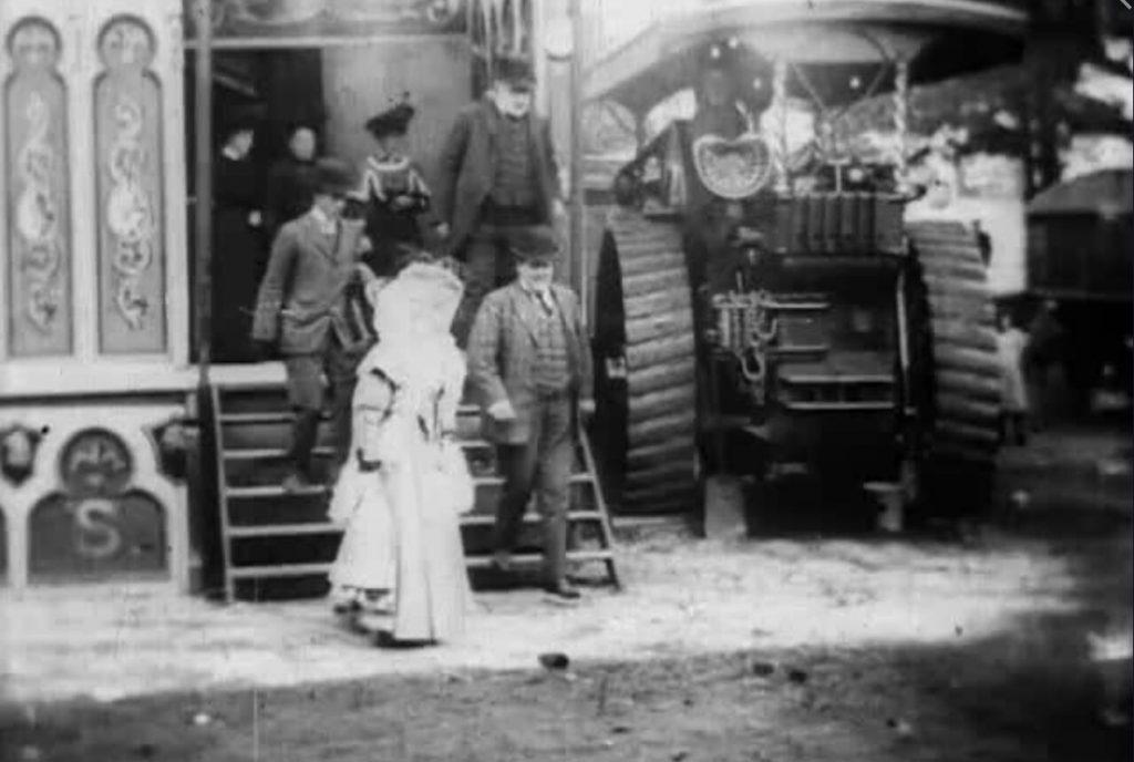 A 1908 video still of Lady Overtoun.
