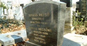 The tombstone of Rezső Seress.