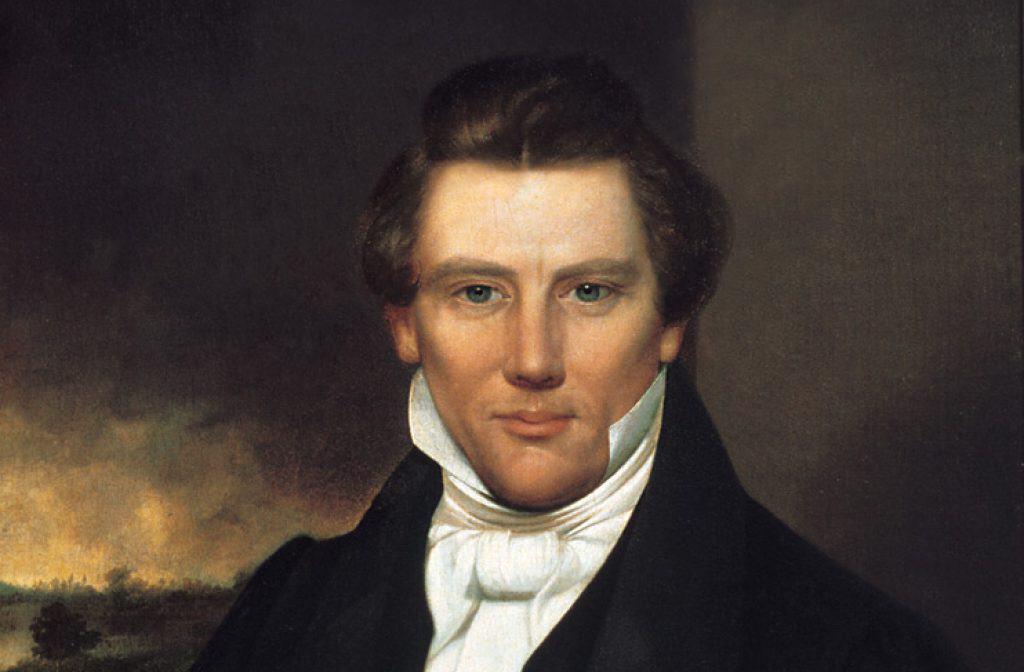 Portrait of Joseph Smith.