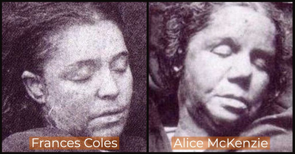 Other Victims of Jack the Ripper. Frances Coles (L) and Alice Mckenzie (R).