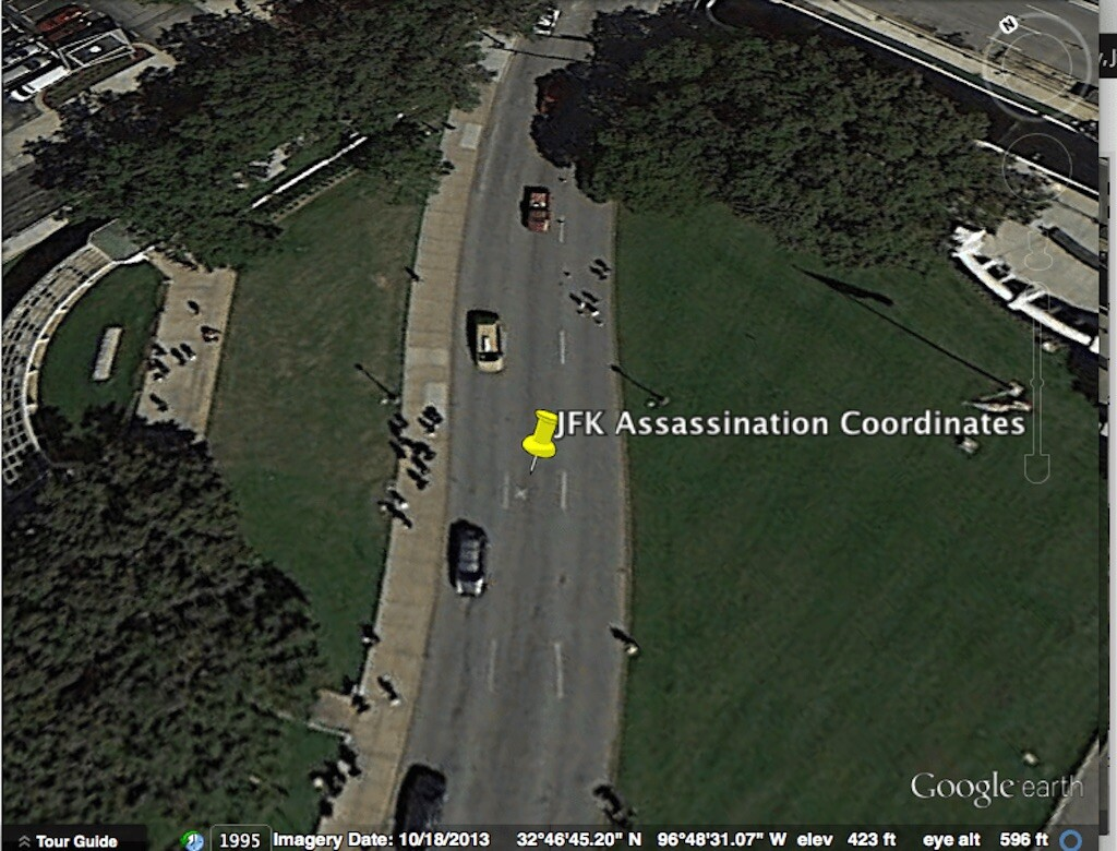 On 22 November 1963, President John F. Kennedy was assassinated here. google earth coordinates