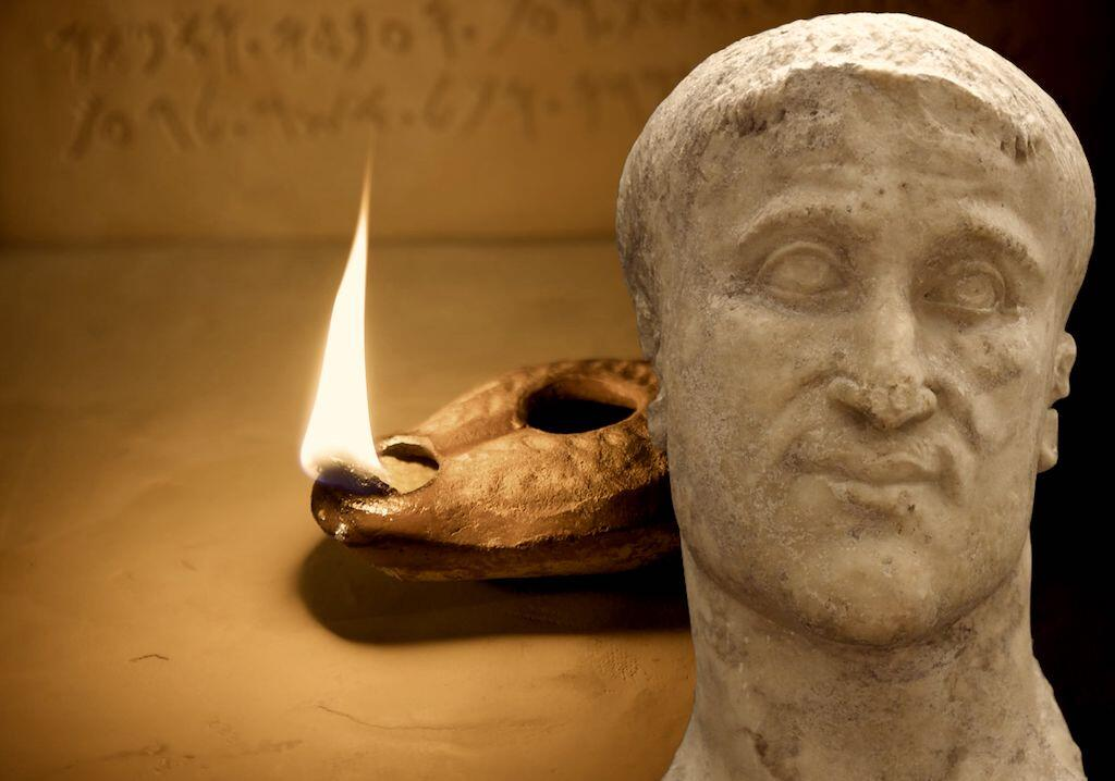 An ancient ever burning lamp was reportedly found in the tomb of Constantius Chlorus.