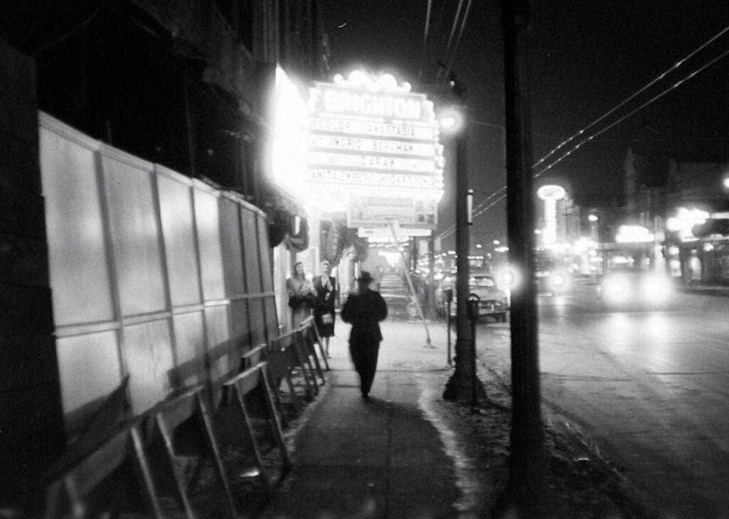 The Brighton Theater, located at Archer and 42nd, Chicago, as it appeared in 1956.