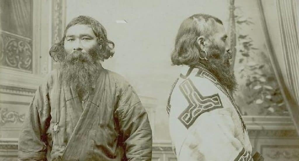 An Ainu man of Japan. Scientists believed Kennewick Man was related to Ainu people of Japan or Polynesians, rather than Native Americans.