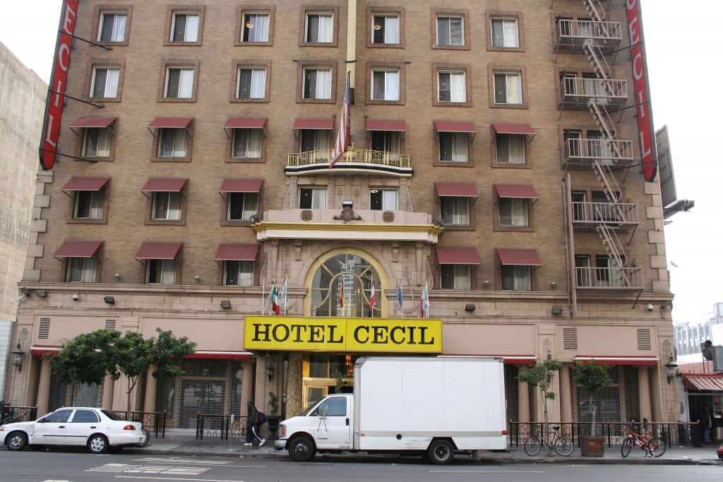 The Cecil Hotel, where Elisa spent her last week. Image credit: wikipedia