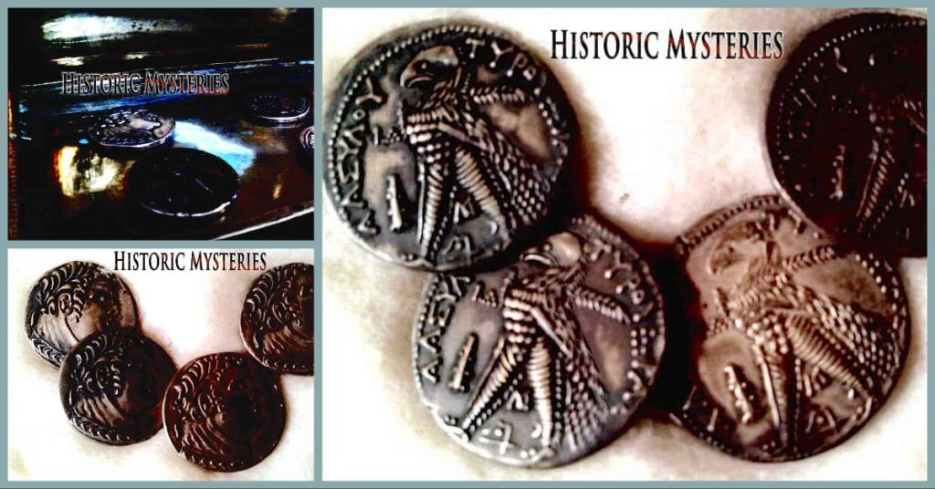 Photos of Saint Thomas' silver coins. Images provided to Historic Mysteries by Paula Gruber.