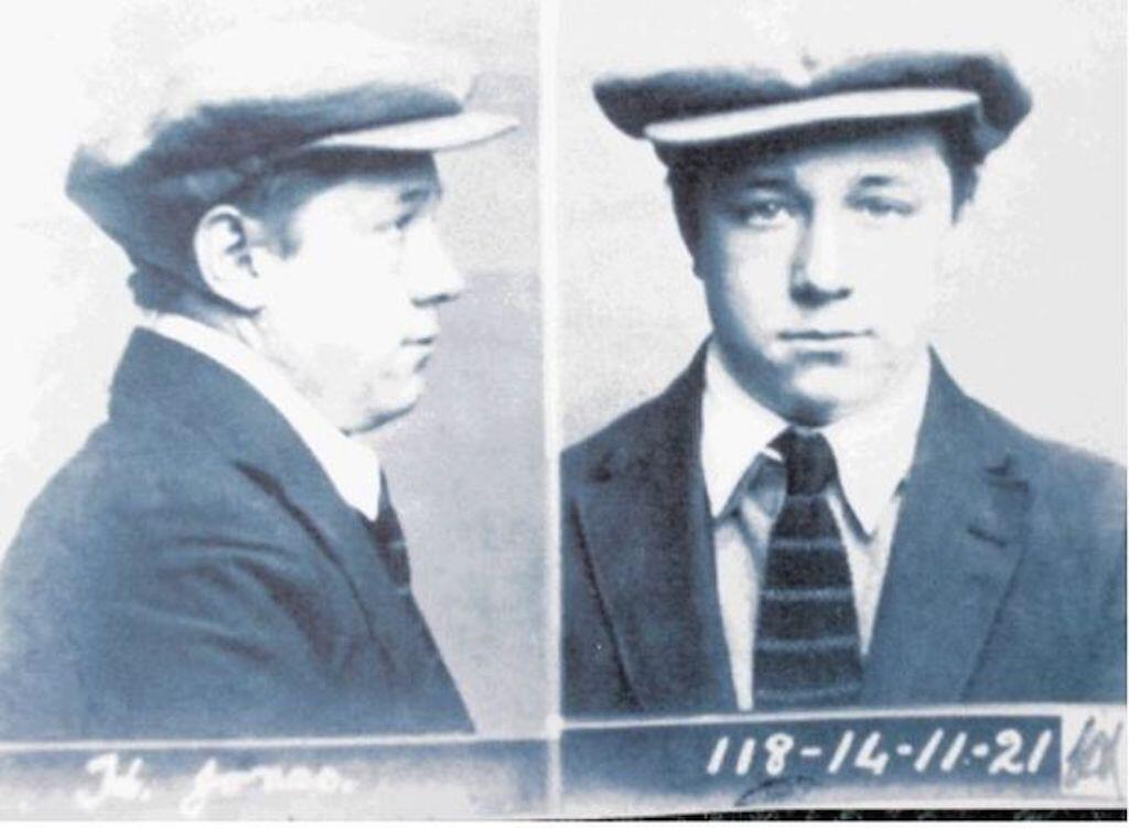 Mug shot of 15 year old Harold Jones following the murder of two young girls.