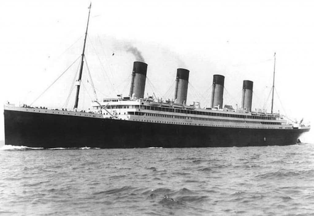 titanic sink