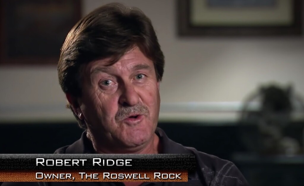 Robert Ridge discovered the Roswell Rock.