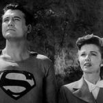 Is there a curse surrounding Superman? Image: George Reeves as Superman in the episode Superman and the Mole Men.