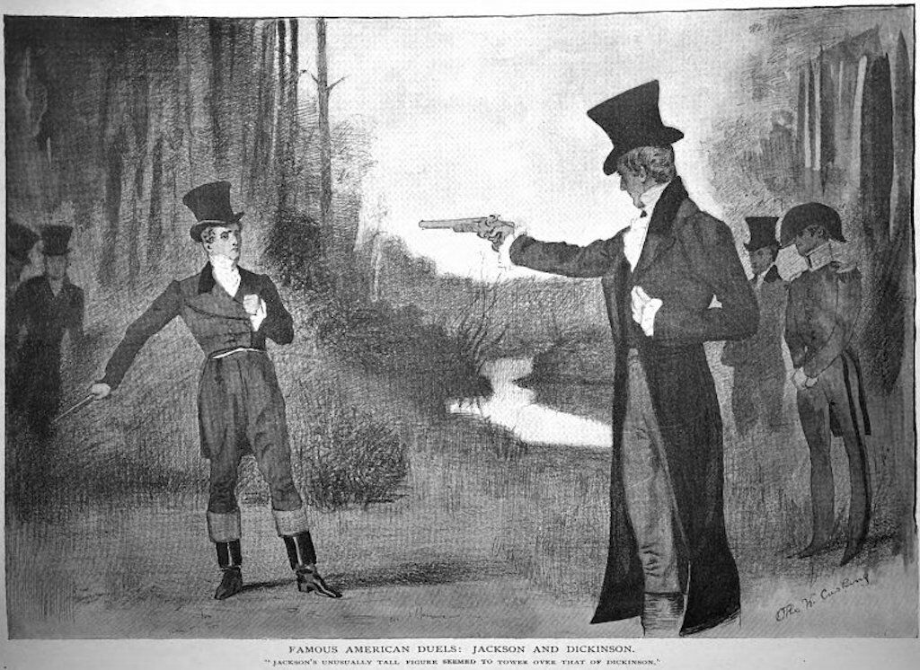 Andrew Jackson defeats Charles Dickinson in a duel.