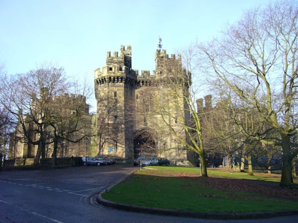 Lancaster Castle, where the Samlesbury witches were tried in the summer of 1612.Lancashire witch trials.