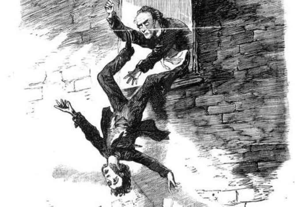 An artist's depiction of Thomas Farrant's death.