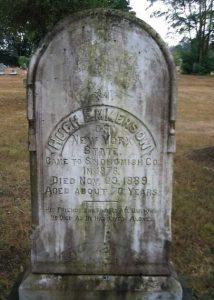 Headstone Hugh Emmerson. Credit: Aurora Henry