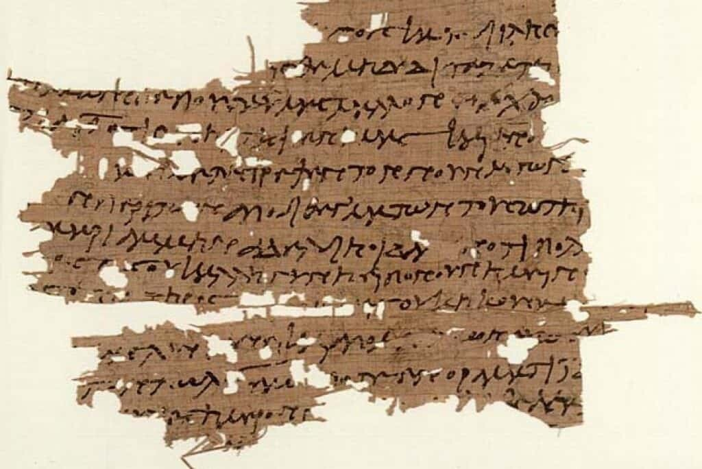 Gospel of Mary, discovered in 1896. P. Oxyrhynchus L 3525, Papyrology Room, Ashmolean Museum, Oxford.