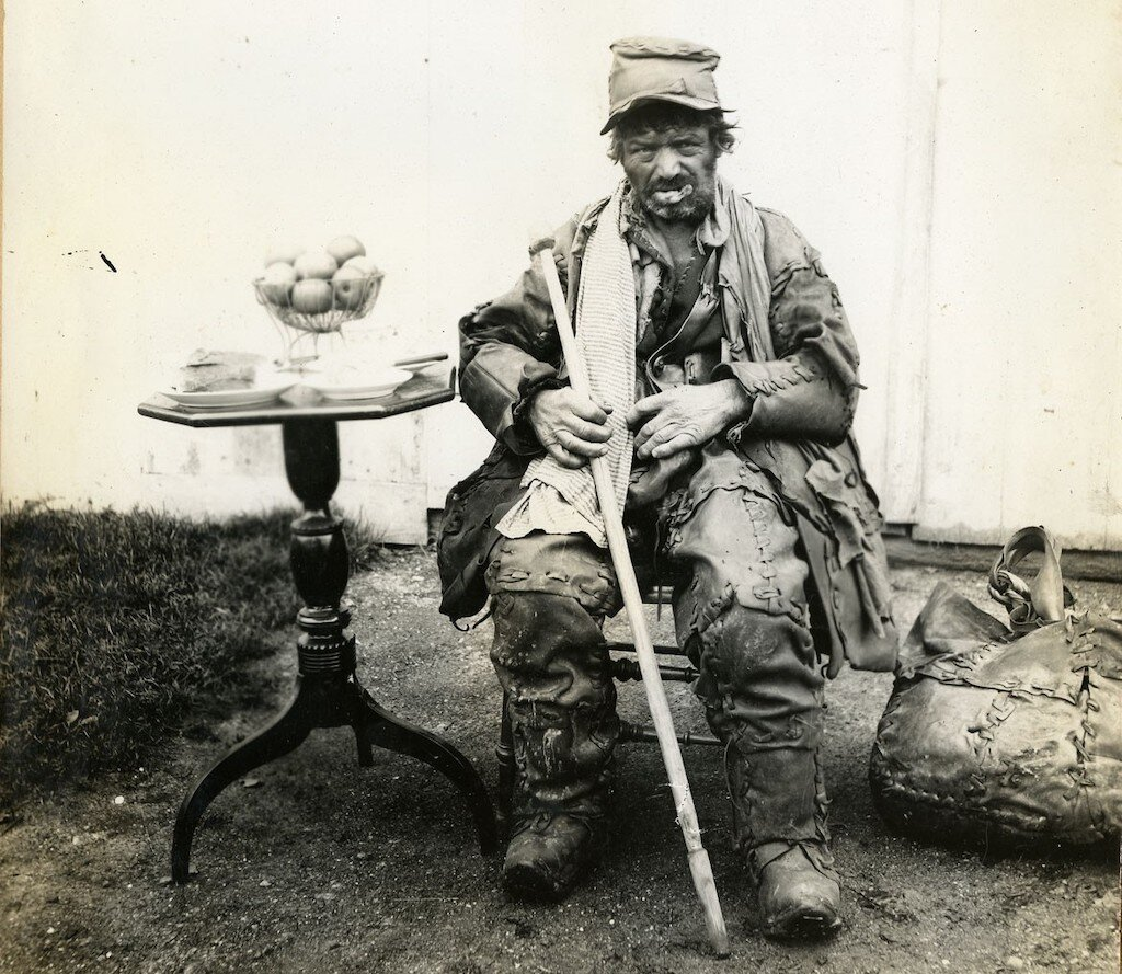 One of the few images of Wandering Leatherman, taken circa 09 June 1885.