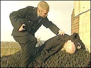 A BBC recreation of how Adamski's body was found.