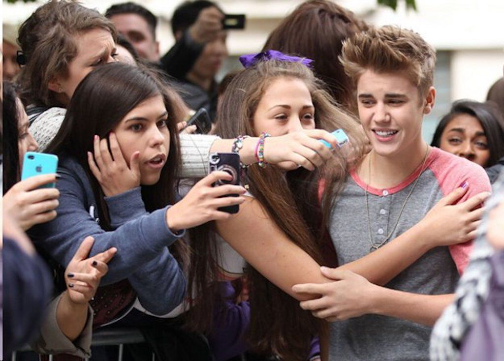 "celebrity stalkers Justin Bieber fans are known as ""Beliebers""."