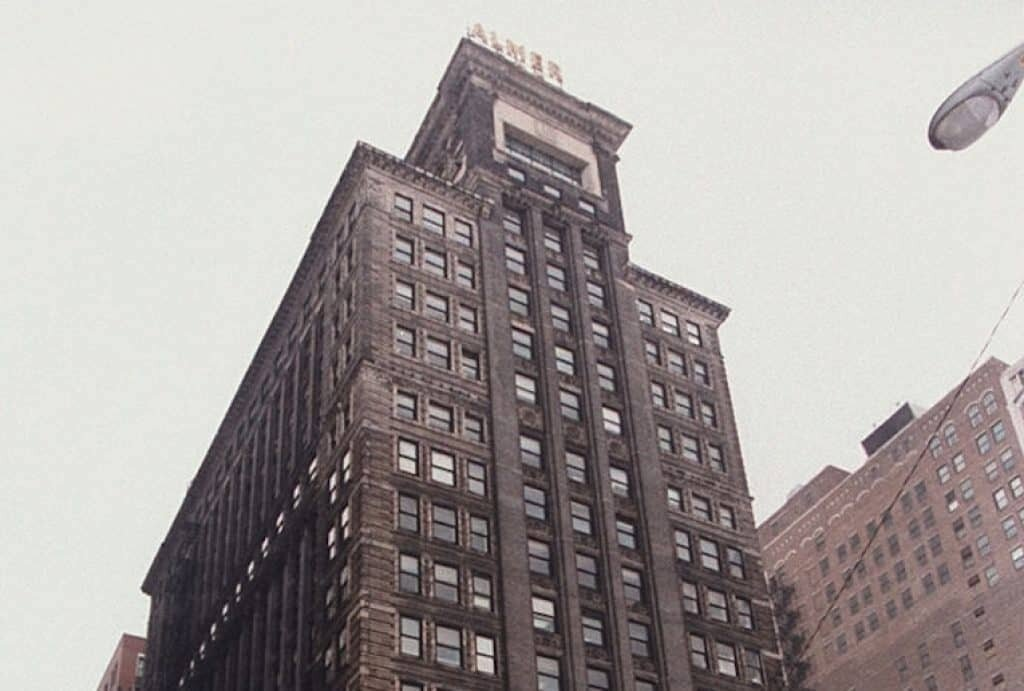 The Michigan Ave building where Eugene Izzi was found hanging from the window.