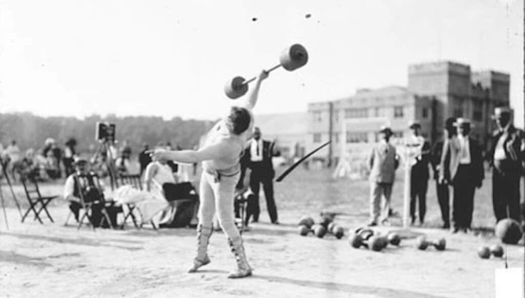 Weightlifting became an Olympic sport at the 1904 games. Image: Chicago Daily News collection, SDN-002638