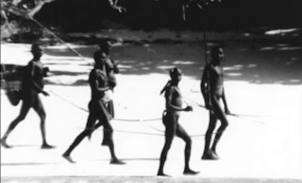 Sentinelese people from North Sentinel Island.
