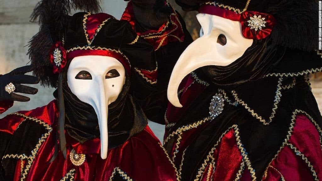 The plague doctor mask is quite popular among those participating in the Carnival of Venice. But do they know its dark history?