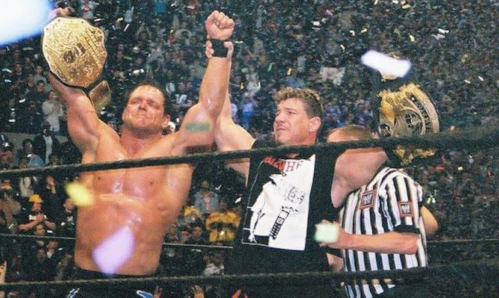 Chris Benoit (L) and Eddie Guerrero (R) at WrestleMania XX. Image Credit: TheHellraiser.
