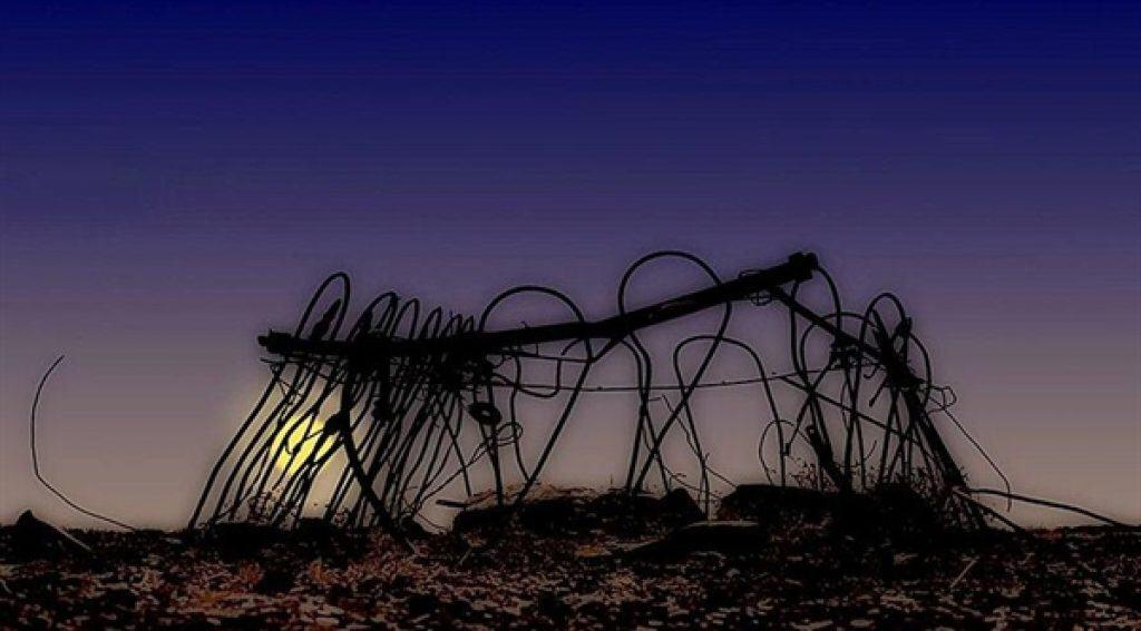 Remains of the graveyard at the old hotel site where the mysterious lights have often been seen in Boulia.