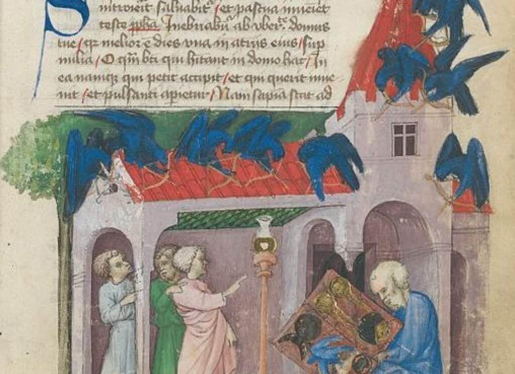Discovery of the Emerald Tablet, Aurora Consurgens medieval manuscript, Zürich Zentralbibliothek