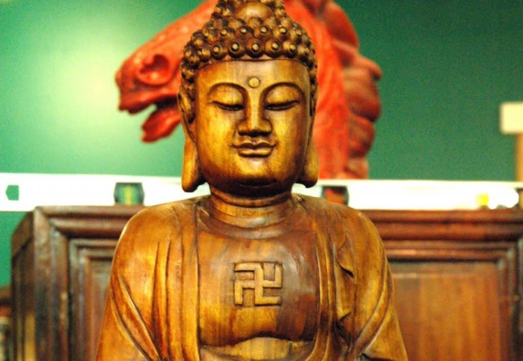 Buddha in the history of the swastika symbol