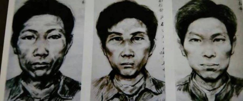 """Wanted posters of Gao Chengyong, who was arrested after his DNA matched that of the """"Chinese Jack the Ripper."""""""