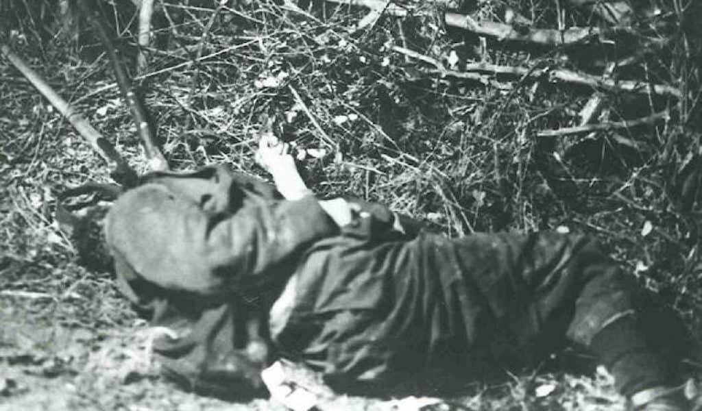 The murder scene. Charles Walton lay dead.