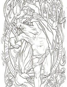 Odin hanging on Yggdrasil