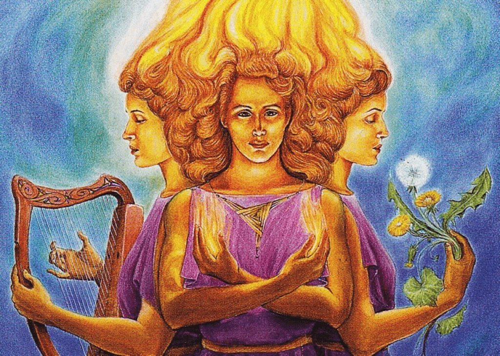 Celtic Goddess Brigid. The Triple Goddess.