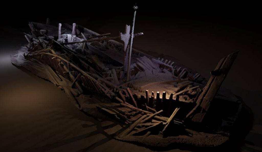 Shipwrecks in the Black Sea.