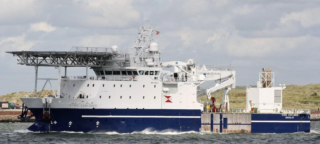 Stril Explorer, the Norwegian support vessel for the Black Sea MAP. Source: Fleetmon.com