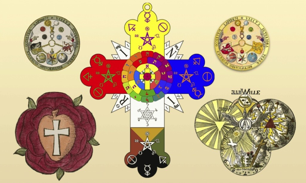 Various images and symbols used by the Rosicrucians.