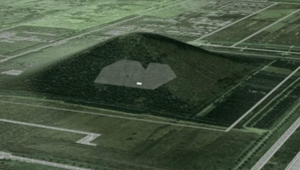 Imaging of Qin Shi Huang tomb hidden within burial mound.